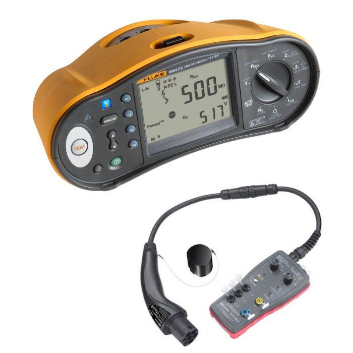 Fluke 1664 Multifunction Tester with EV-520 Adaptor Kit