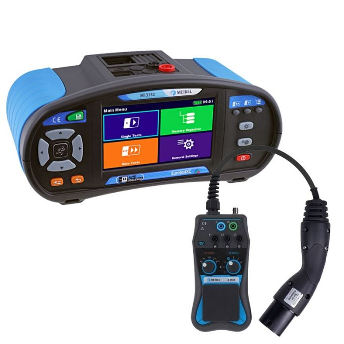 Metrel MI 3152 Eurotest XC Multifunction Tester Euro Set with EVSE Adapter