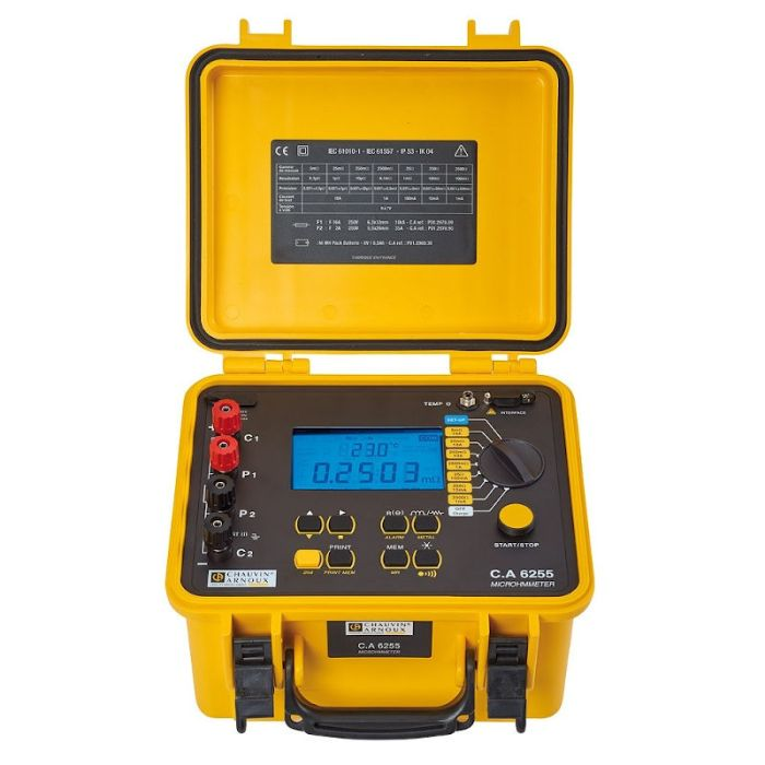 Chauvin Arnoux CA 6255 10A Micro Ohmmeter