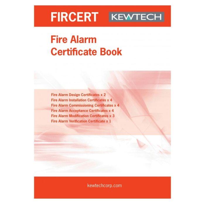 Kewtech Fire alarm Certification Book - FIRCERT
