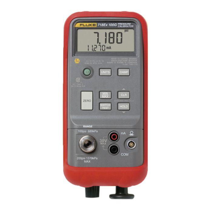 Fluke 718Ex 100G Intrinsically Safe Pressure Calibrator 100PSI