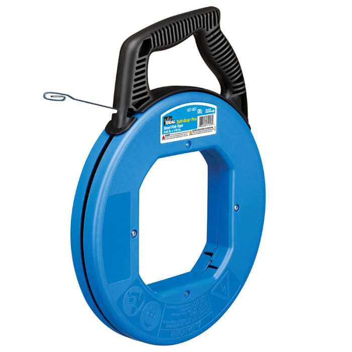 Ideal 31-057 Tuff-Grip Pro Blue Steel Fishtape - 240ft