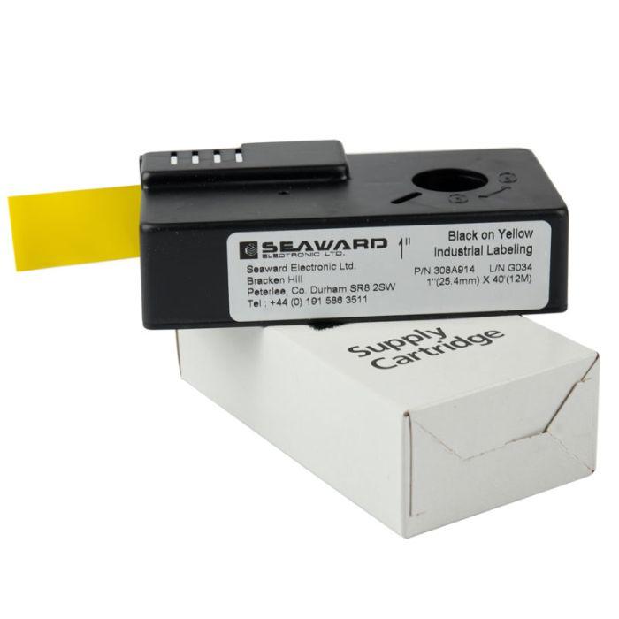 Seaward Test n Tag Label Cartridge (black on yellow) (308A914)