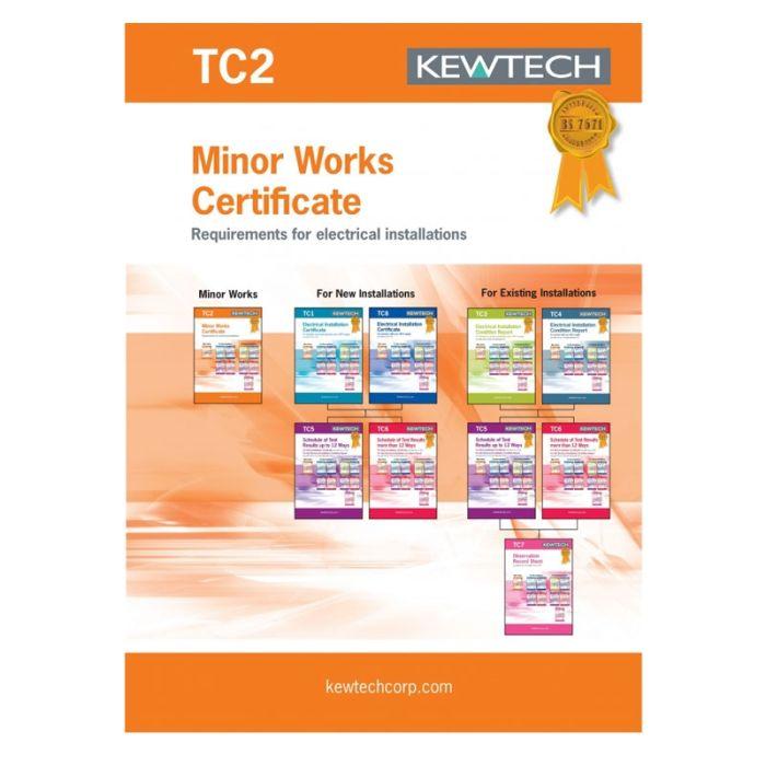 Kewtech Minor Works Certs 40pgs (TC2)