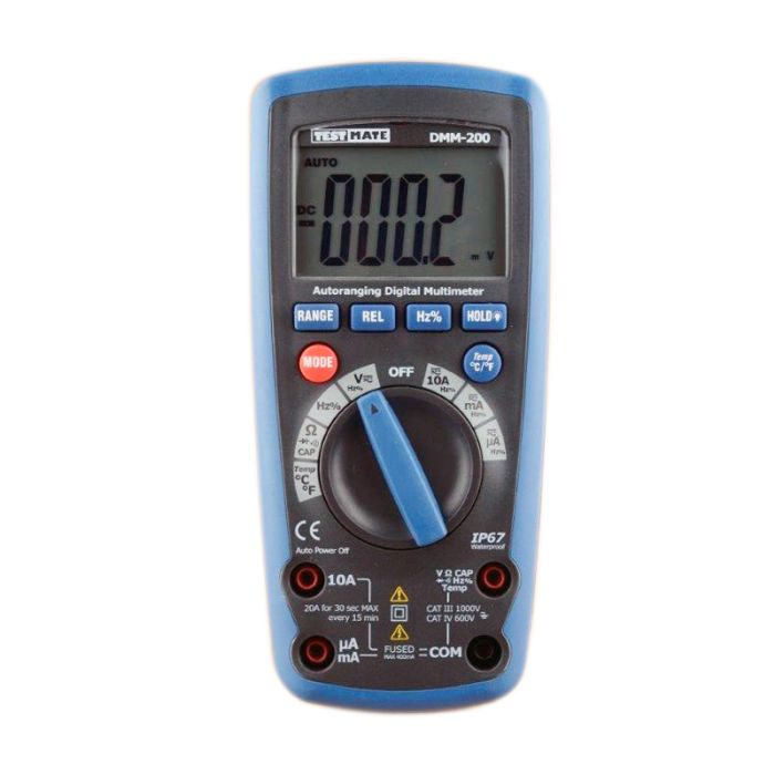 Advanced Testmate DMM-200 Autoranging Digital Multimeter