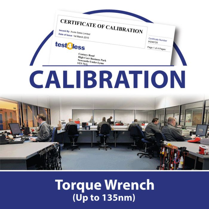 Torque Wrench Calibration (up to 1100nm)