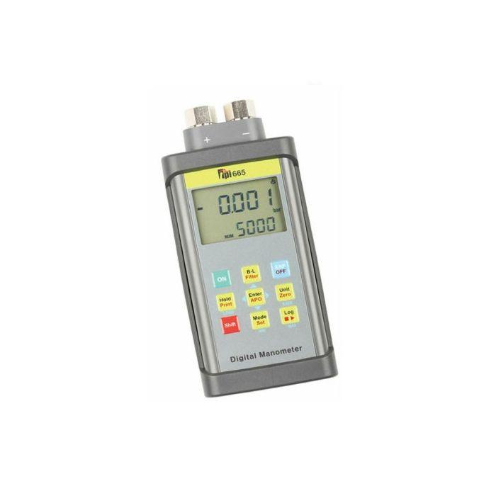 TPI 665 Kit Dual Input 100 PSI Digital Manometer c/w Data Logging