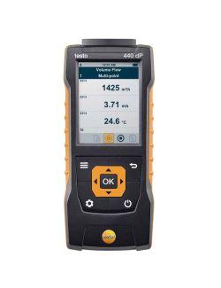 Testo 440 - Air velocity and IAQ measuring instrument including differential pressure sensor